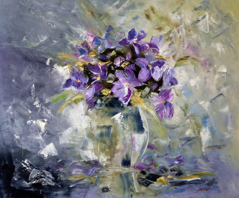 Obrazy Olejne Kwiaty Abstrakcje